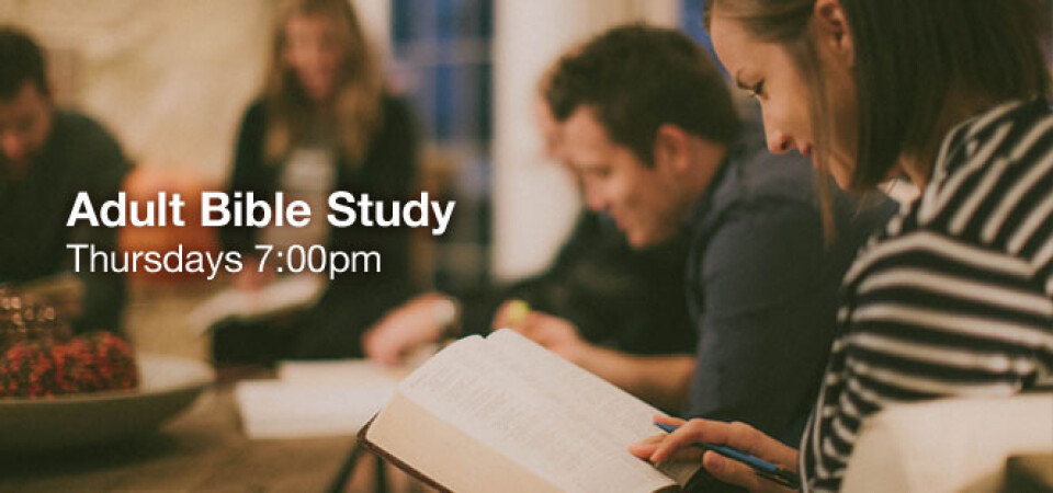 Adult Bible Study (Last Believe Study)