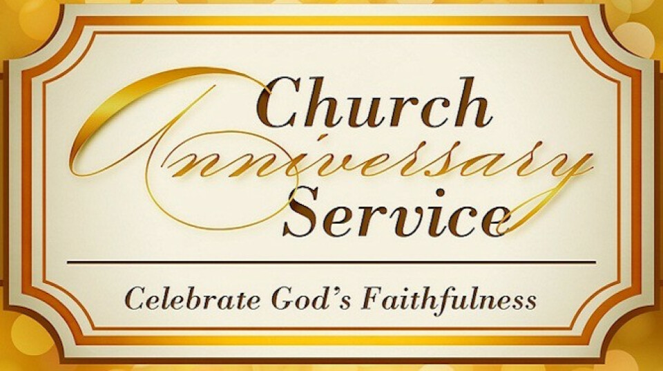 Image result for church anniversary